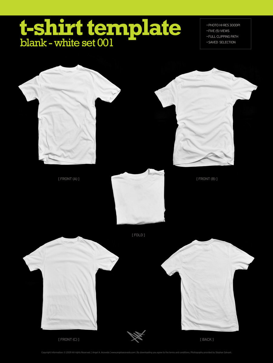 blank t-shirt template, white t-shirt template