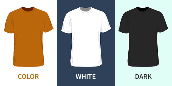 colour templates, white shirt mockups, dark shirt templates