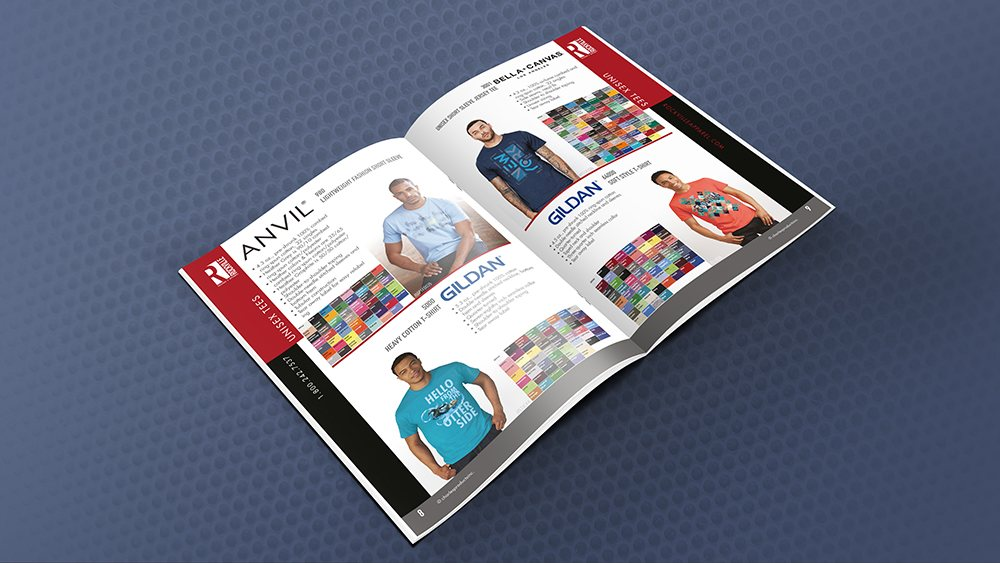 How to print a booklet - Catalogue with wholesale T-shirt brands