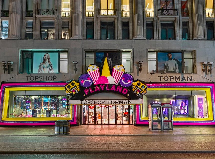 british event agencies, create london, topshop playground