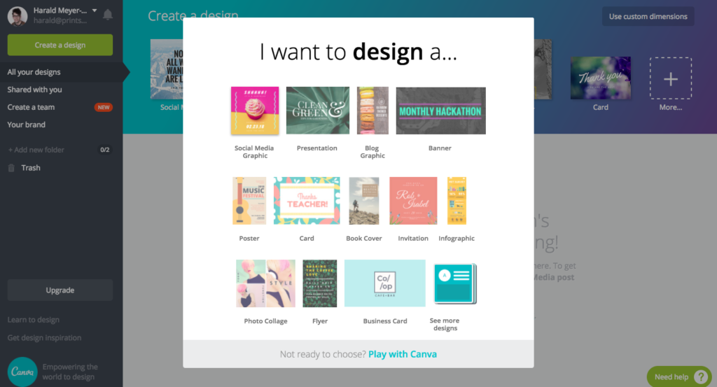 Canva Screen Grab