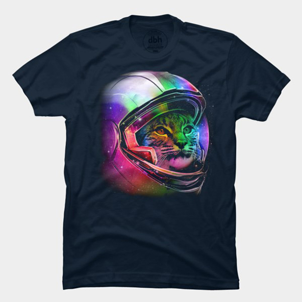 space cat, space cat t-shirt, space cat neon t-shirt, neon t-shirt, neon t-shirts