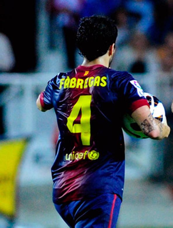 cesc fabregas, fc barcelona, la liga, football