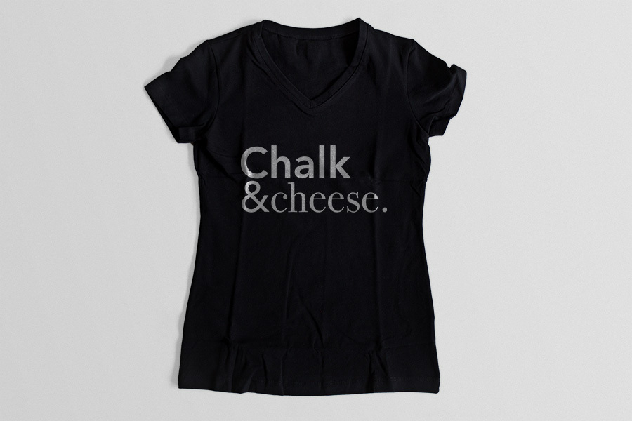 chalk-and-cheese