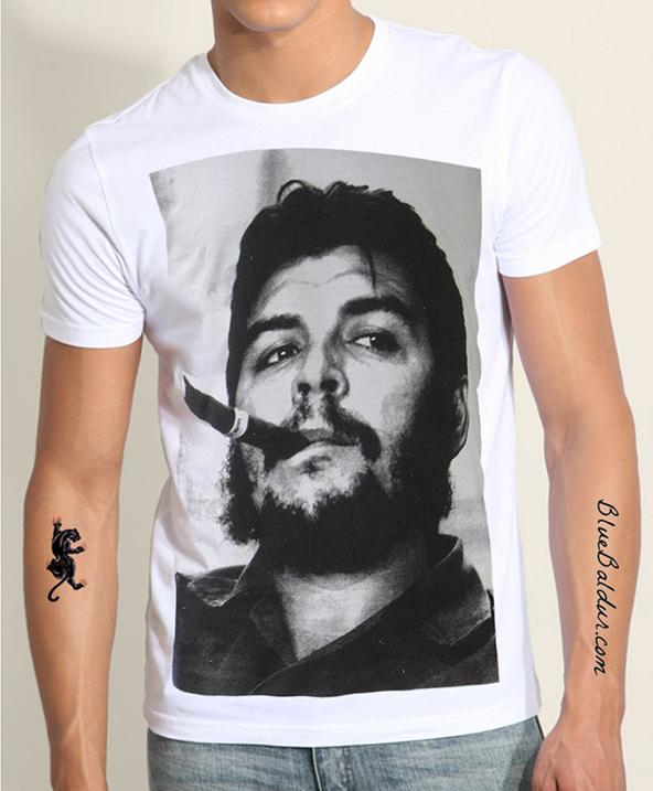 che guevara t-shirt, che guevara, che guevara without hat, revolution t-shirt, face t-shirt