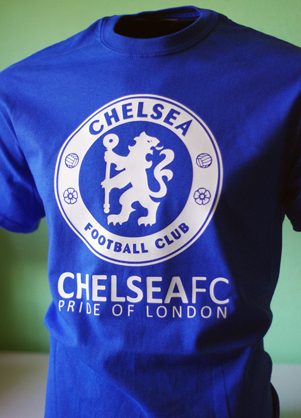 chelsea, premier league, winners, opening day, t-shirt, screen printing
