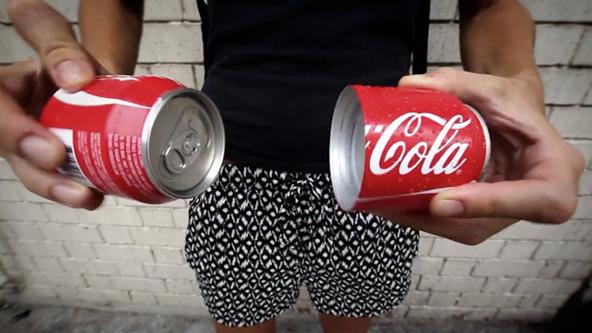 Coca Cola, Coke, Coca-cola, marketing, split a can, share a can, debranding, coca-cola classic, coke classic, coca-cola vending machine, coca-cola wearable movie, t-shirt printing, marketing agency, marketing agencies, t-shirt printing London, Printsome blog