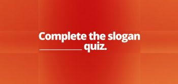 Complete de slogan Quiz
