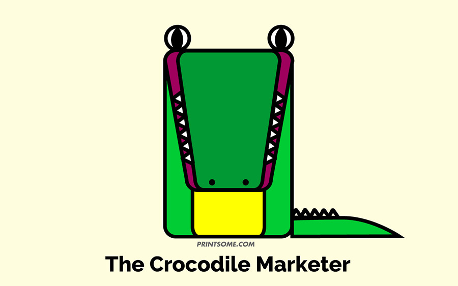 crocodile marketer totem