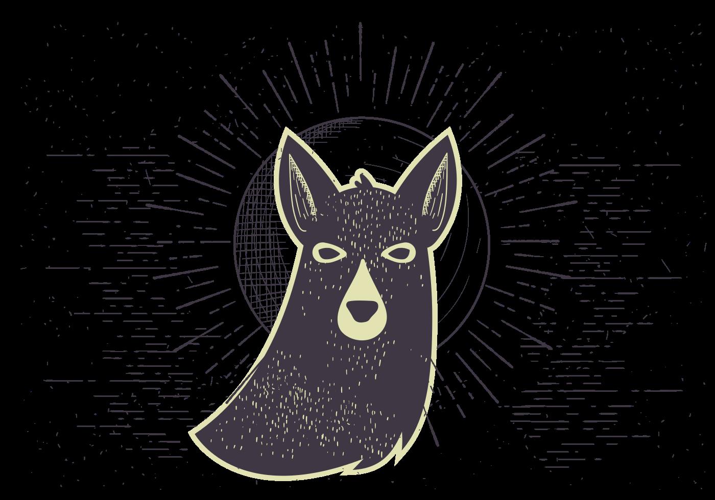 Custom T-shirts - Dog Illustration