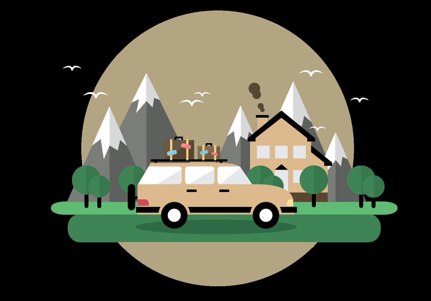 Custom T-shirts - Road Trip Illustration