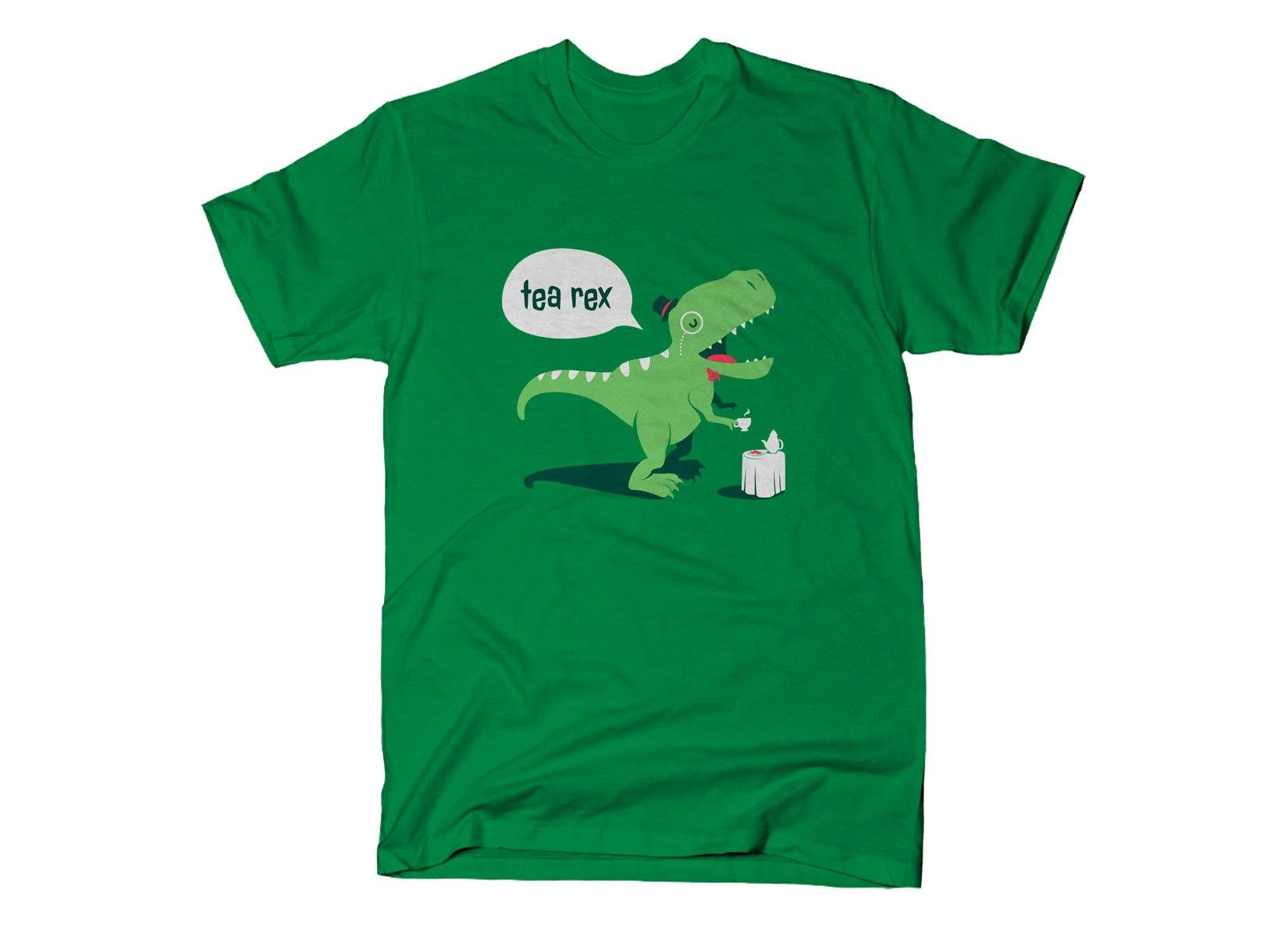 custom t-shirts tea rex, green t-shirt