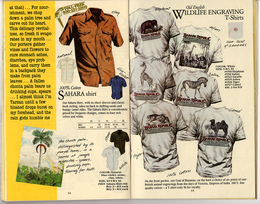 designing t-shirt catalog