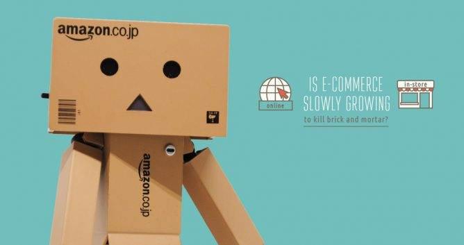 ecommerce infographic, header image. amazon robot