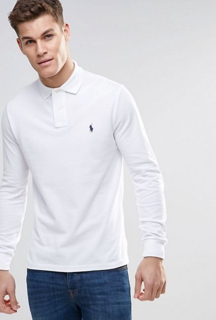Embroidered Polo Shirts - Long Sleeve Ralph Lauren