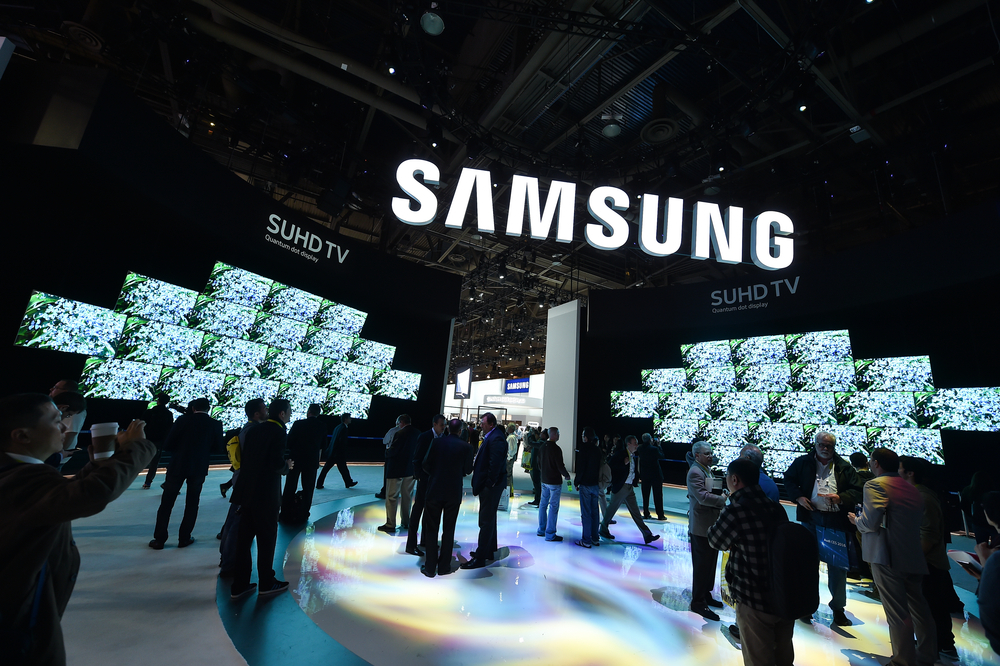 Samsung Stand at the International Consumer international Electronics Show