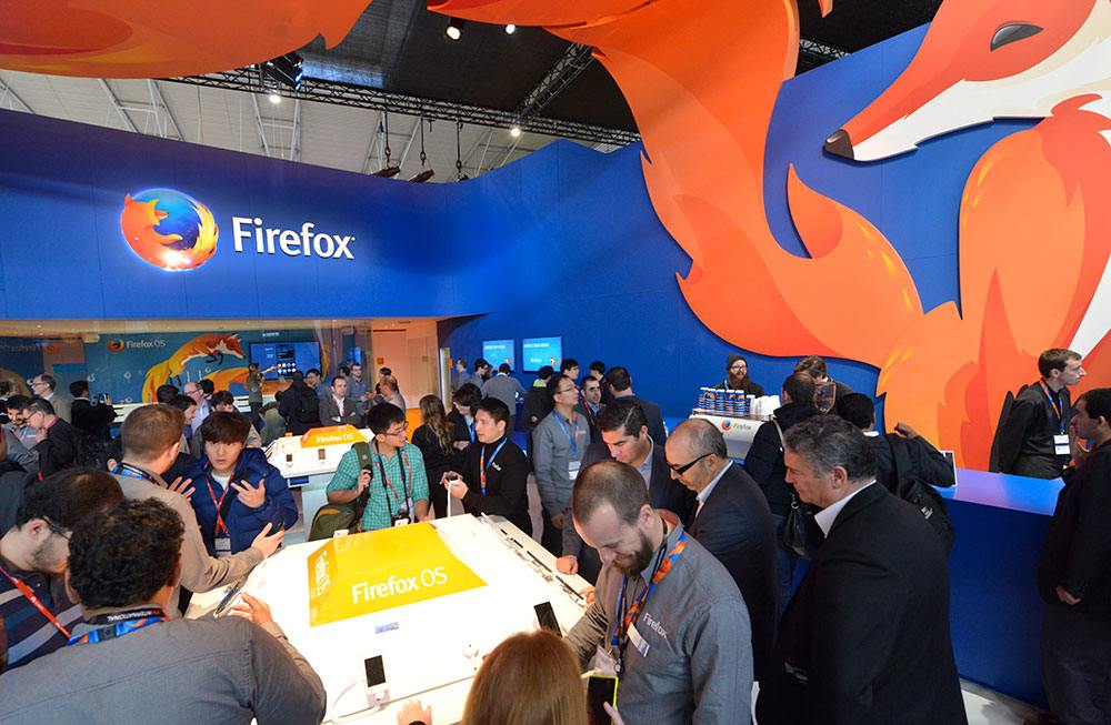 Event stand ideas: Mozilla Firefox at the Mobile World Congress.
