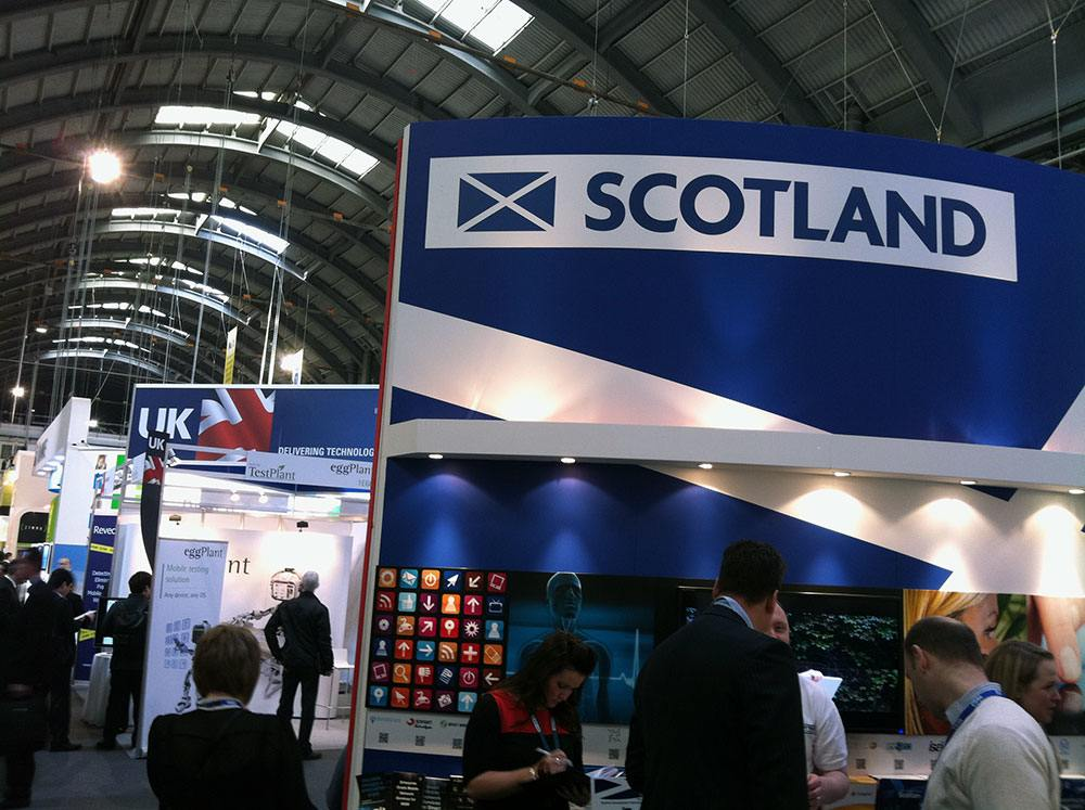 Event stand ideas: Scotland at the Mobile World Congress.