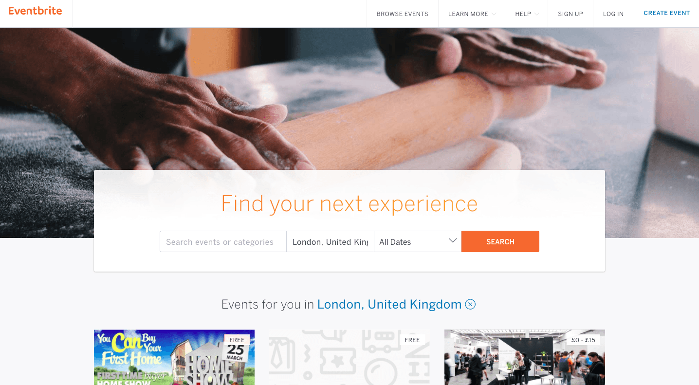 online ticketing platforms - eventbrite