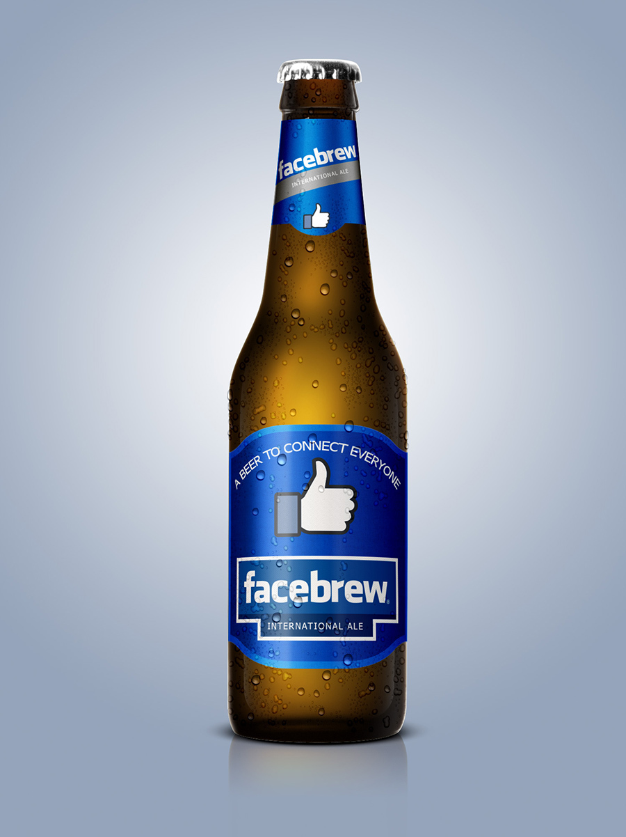 Facebook Beer, Beer Designs, Brands into Beers