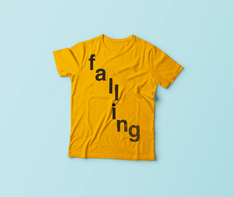 falling, personalised T-shirt