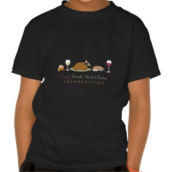 friends family feast festive t-shirt, festive t-shirt, thanksgiving, thanksgiving t-shirt, turkey, turkey t-shirt