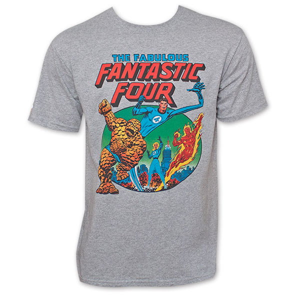 fantastic four, fantastic four t-shirt, superheroes, superhero t-shirts, screen printing