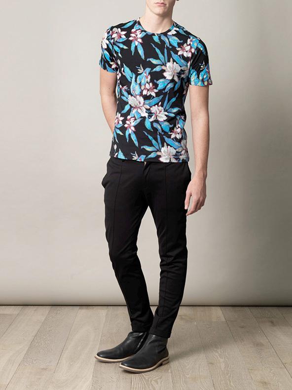 floral print t-shirt, t-shirt, floral