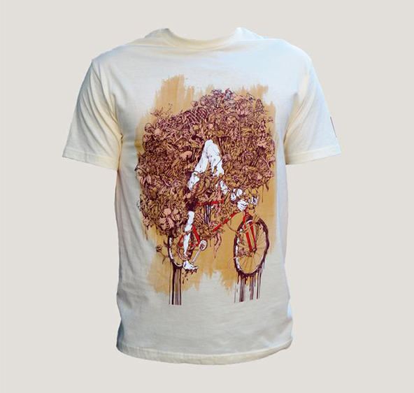 flower face t-shirt, flower t-shirt, bike t-shirt, artistic t-shirt, art on t-shirt, art, t-shirt