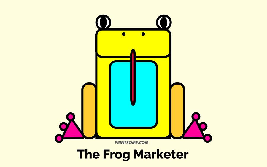 frog marketer totem