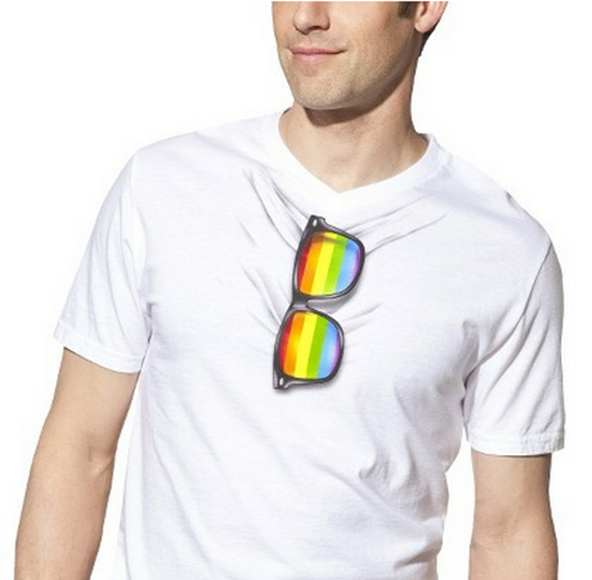 gay pride, gay pride t-shirt, glasses t-shirt, glasses gay pride t-shirt