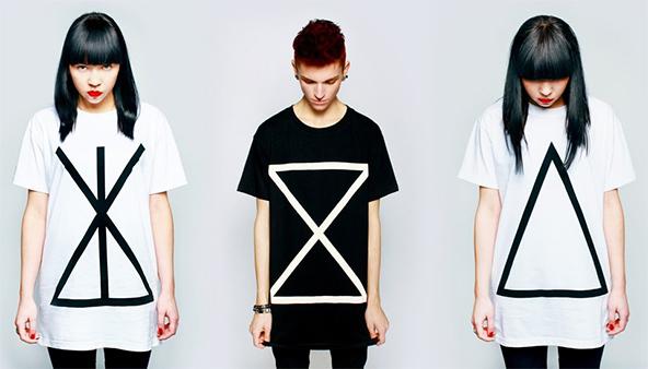 geometric t-shirts, printed t-shirts, dtg t-shirts