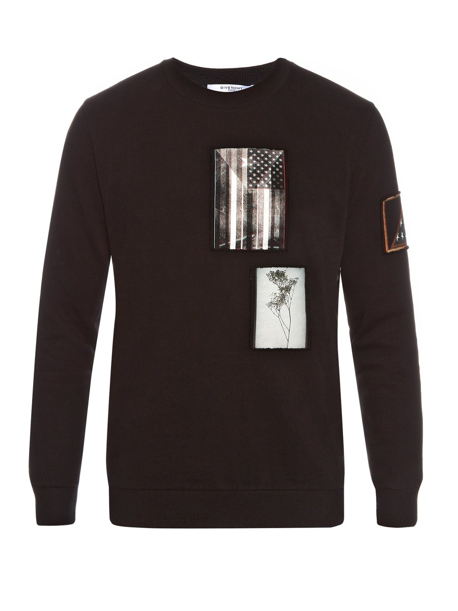 Cuban-fit patch-appliqué jumper by Givenchy