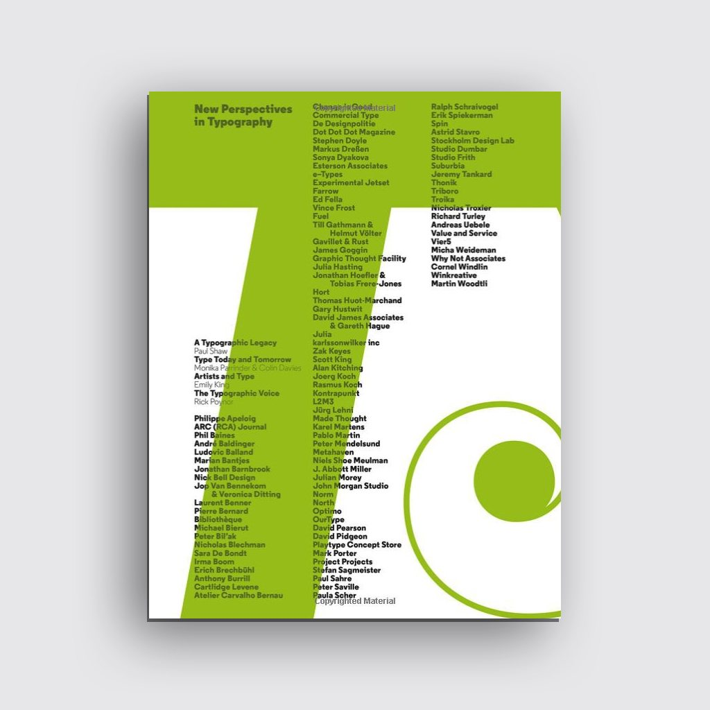 Graphic Design Books - 'New Perspectives in Typography' by Scott Williams