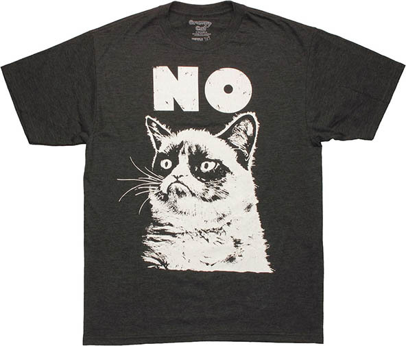 grumpy cat t-shirt, grumpy cat no t-shirt, cat t-shirt, best cat t-shirt