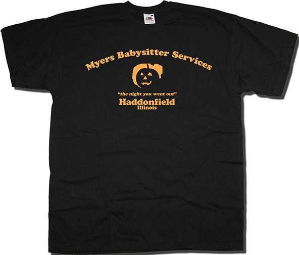 Halloween, halloween t-shirt, halloween t-shirts, mike myers, michael myers, mike myers t-shirt, mike myers babysitter services