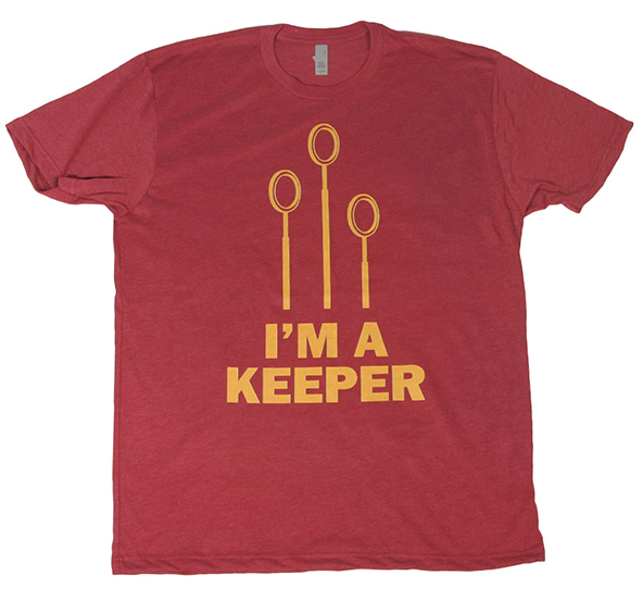 Harry Potter T-shirt, quidditch, quidditch t-shirt, keeper, keeper t-shirt, unofficial t-shirt