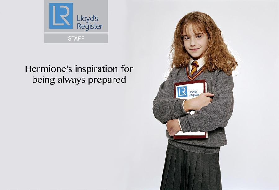 hermione granger, lloyds, brand ambassadors, fictional brand ambassadors,