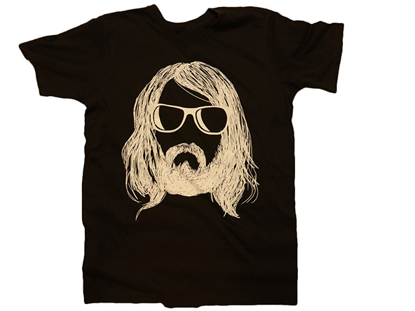 hipster with beard t-shirt, hipster t-shirt