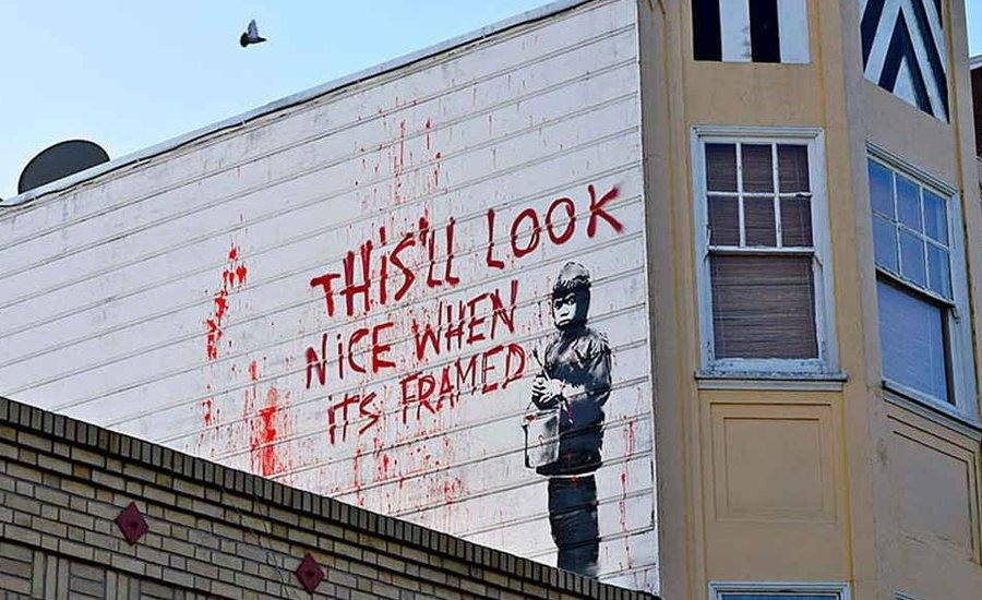 street art, banksy, mural