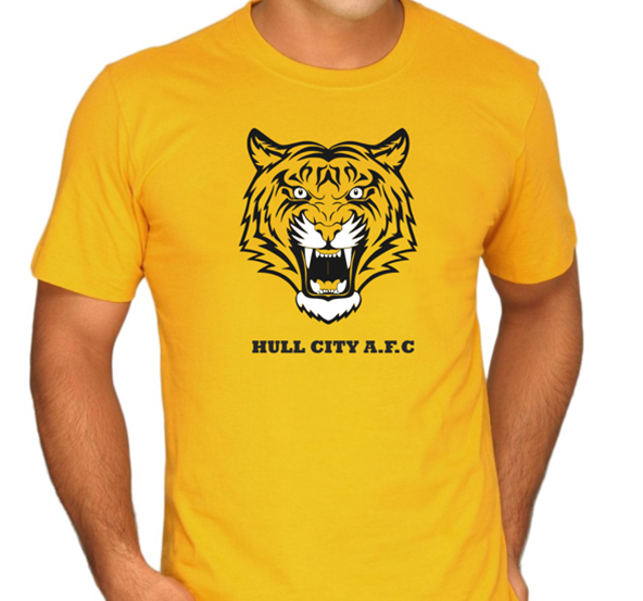 hull city, premier league, tiger, screen printing, t-shirt