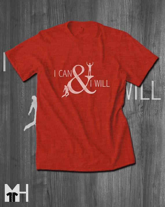 'I can' personalised T-shirt, personalised T-shirts for entrepreneurs