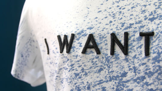 Personalised volumetric threads letters for I Want
