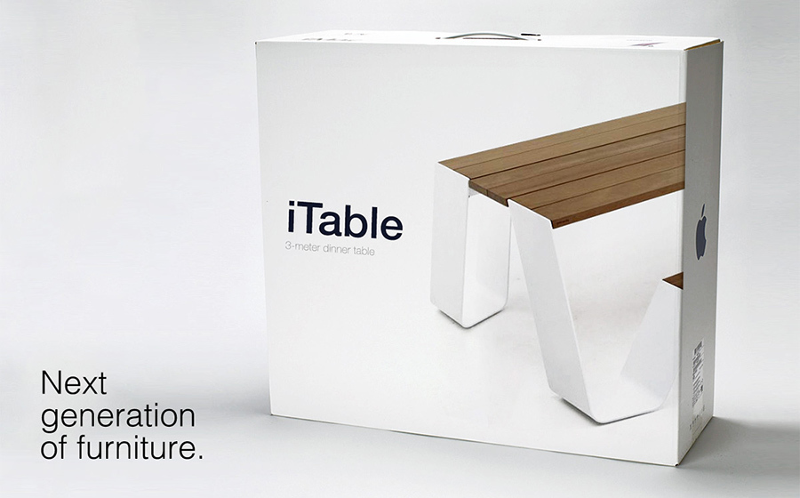 apple furniture, apple table, itable