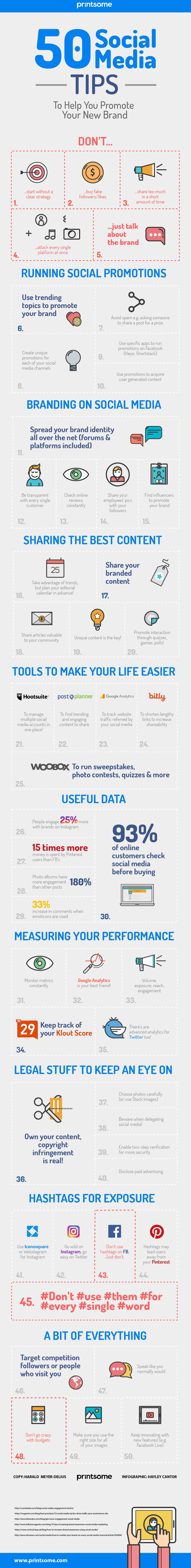infographic 50 social media tips