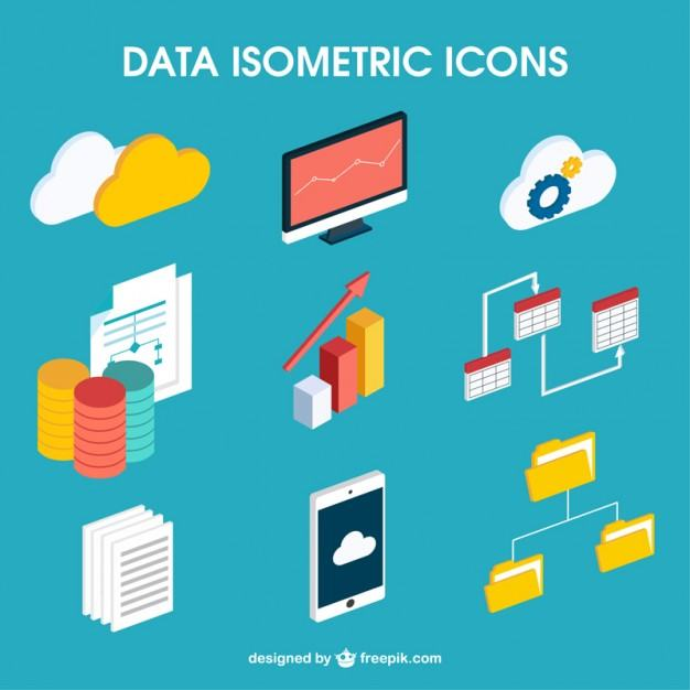 Isometric Icons, UI Design Trends