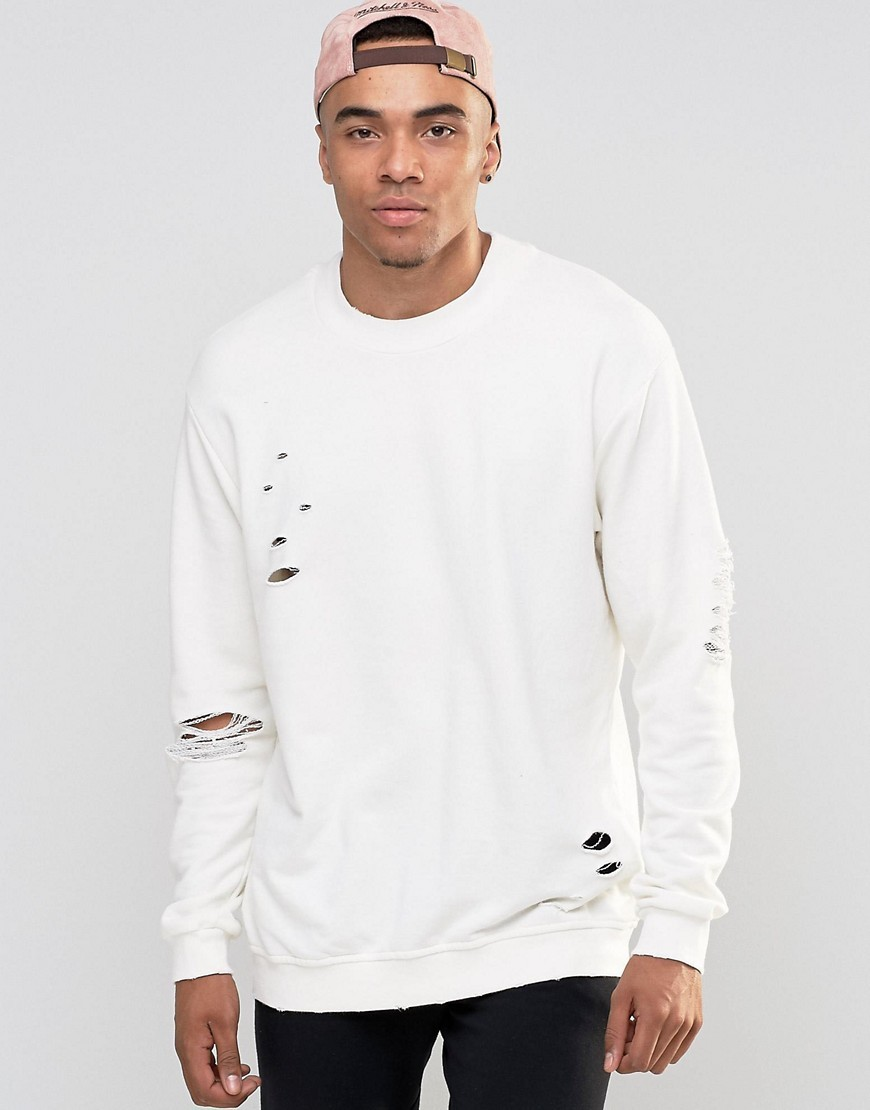 Jumper with distressed details by Jack and Jones