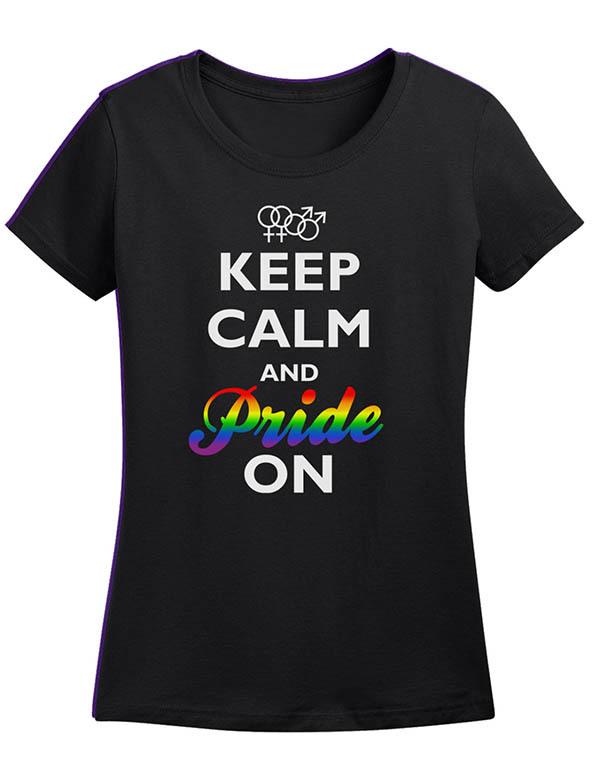 keep calm and pride on t-shirt, keep calm pride t-shirt, gay pride, gay pride t-shirt,