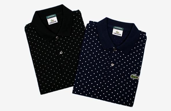 lacoste polka dot polo shirts, lacoste polo shirts, polka dot polo shirts, polo shirts, embroidery