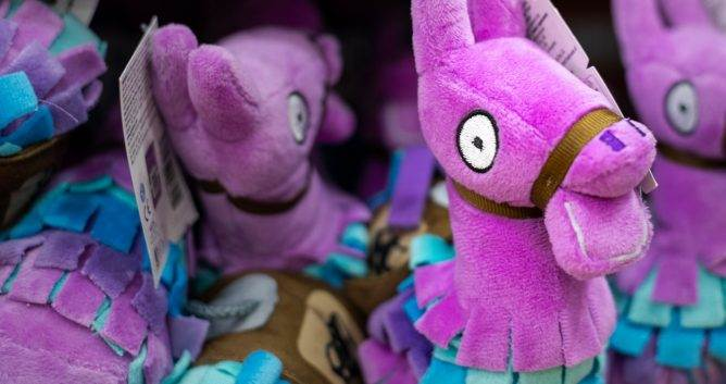 Video Game Merchandise - Fortnite Llama Plushie